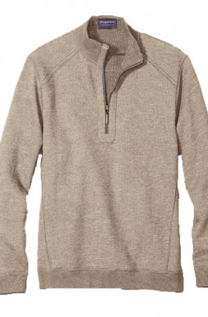 Tommy Bahama Tan Flipsider 1/4-Zip Reversible Pullover #T217391-5581