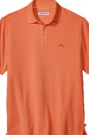 Tommy Bahama Bright Coral Coastal Crest Ultralight Polo #T218012-3412