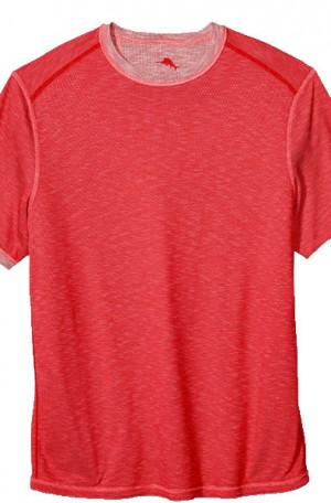 Tommy Bahama Red Flip Tide Reversible Tee Shirt #T218029-14968