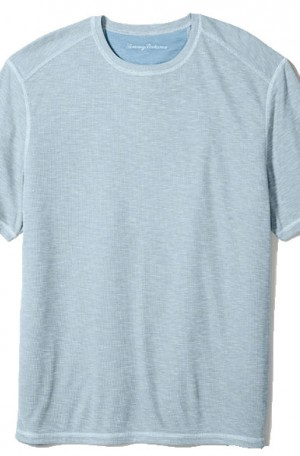 Tommy Bahama Pale Blue Flip Tide Reversible Tee Shirt #T218029-3044
