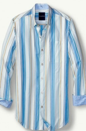 Tommy Bahama Blue Stripe Long Sleeve Shirt #T316456-10869