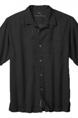 Tommy Bahama Black Silk Island Zone Camp Shirt #T316746-023