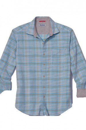 "Tommy Bahama Blue ""Crazy Cord"" Long Sleeve Shirt #T320437-4790"
