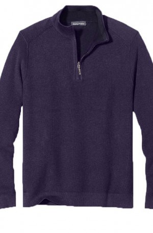 Tommy Bahama Navy 1/4-Zip Cotton Pullover #T417554-4903