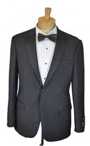 Tiglio Black Tailored Fit Tuxedo TIG-1001TUX