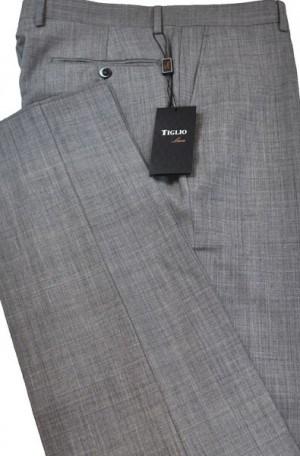 Tiglio Gray Sharkskin Tailored Fit Dress Slacks #TS2001-7F