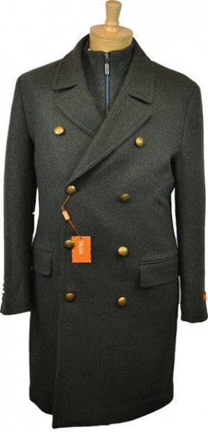 Tallia Olive Long Pea Coat #TVB0007