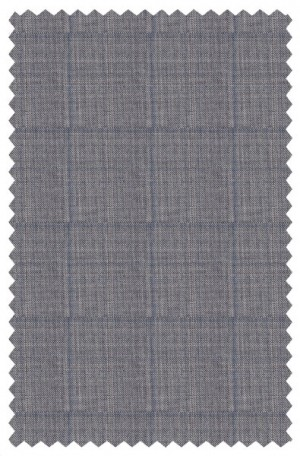Tiglio Gray Windowpane Tailored Fit Vested Suit V813499-1