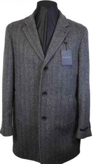 John Varvatos 3/4 Length Gray Top Coat #VST0000