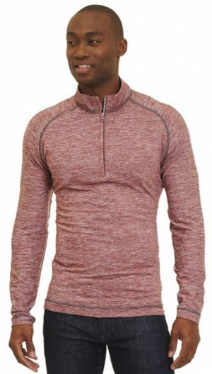 Robert Graham Burgundy Tailored Fit 1/4-Zip Pullover XR166013TF-BURG