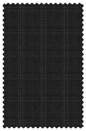 Austin Reed Black Plaid Tailored Fit Vested Suit #ZBA0091