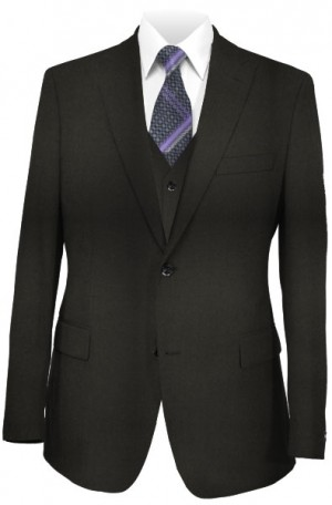 The Perfect Wedding Suit Package – Slim Fit Or Classic Fit. Solid Black Vested Suit