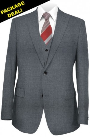 The Perfect Wedding Suit Package – Classic or Slim Fit. Medium Gray Vested Suit