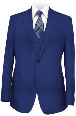 """The Perfect"" Wedding Suit Package - Slim fit Or Classic  Fit Royal Blue Vested Suit"