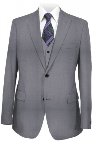 The Perfect Wedding Suit Package – Slim Fit Or Classic Fit Lt. Gray Vested Suit