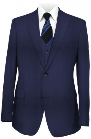 The Perfect Wedding Suit Package – Slim Fit Or Classic  Fit Solid Navy Vested Suit