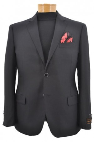 Tiglio Black Tailored Fit Blazer #TIG-1001