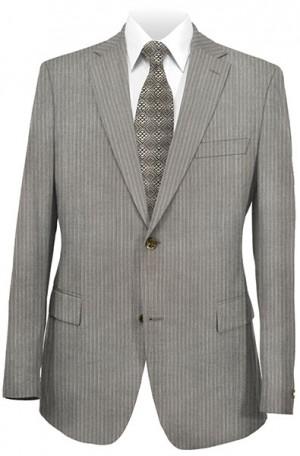 Hickey Freeman Medium Tan Pinstripe Suit #001-311029