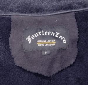 Fourteen Zero Navy Shearling Coat