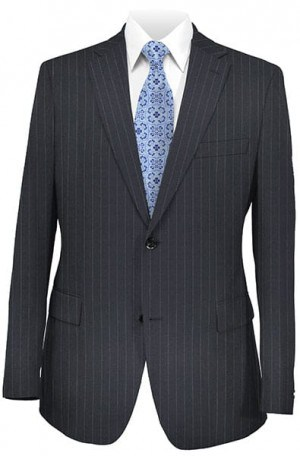 Hickey Freeman Classic Navy Stripe Suit #011-311054