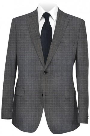 Hickey Freeman Gray Pattern Flannel Suit #015-303507