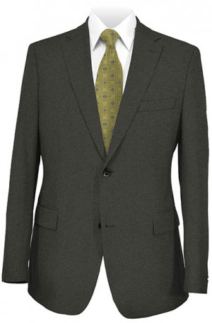 Hickey Freeman Taupe Tick Weave Suit #015-303511