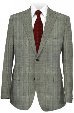 Hickey Freeman Gray Plaid Suit 015-305016