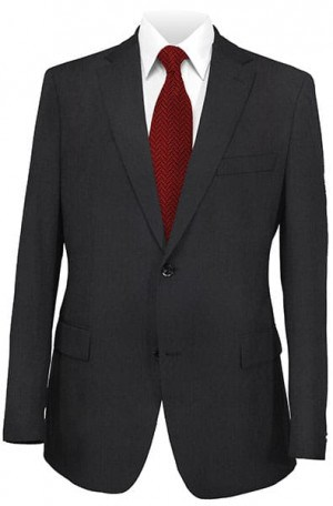 HickeyFreeman Black Tone-on-Tone Suit 015-312093