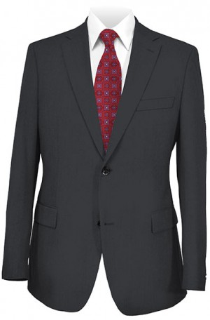 Hickey Freeman Solid Color Charcoal Suit #015-312097