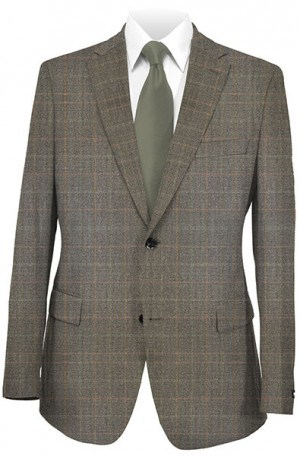 Hickey Freeman Medium Brown Windowpane Genleman's Fit Sportcoat #015-502010