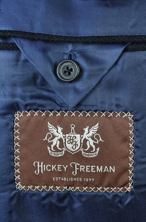 Hickey Freeman Black Cashmere-Wool Sportcoat #015-508000