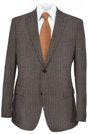 Hickey Freeman Brown Herringbone Gentleman's Fit Sportcoat #015-508002