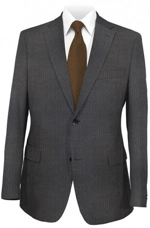 Hickey Freeman Dark Gray Stripe Suit 025-301004