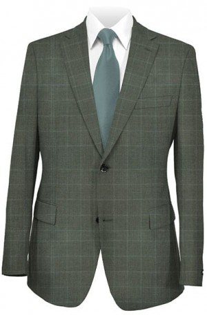 Hickey Freeman Charcoal Pattern Suit 025-301024