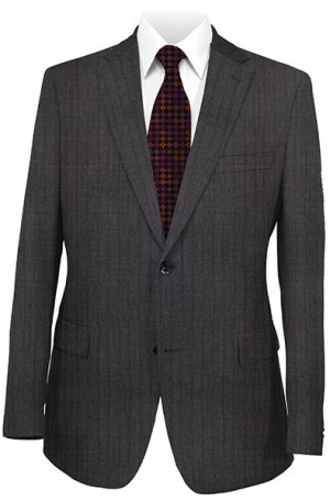 Hickey Freeman Gray Pattern Suit #025-306002