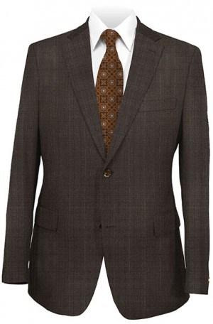 Hickey-Freeman Dark Brown Pattern Suit 025-306012