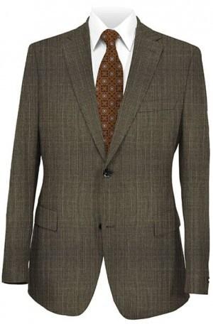 Joseph Abboud Dark Taupe Pattern Suit #030590