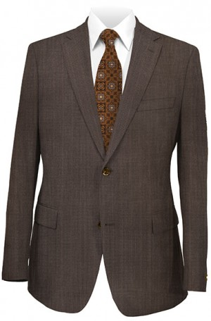 Hickey Freeman Brown Striped Suit #035-302019