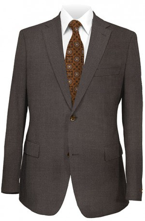 Hickey Freeman Brown Birdseye Weave Suit 035-305523