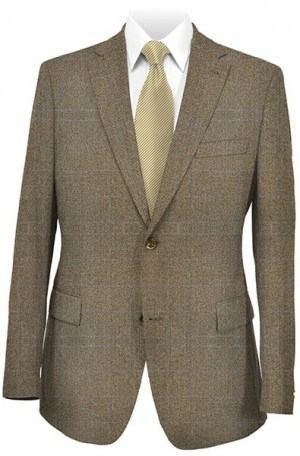 Hickey Freeman Medium Brown Herringbone Sportcoat 055-506019