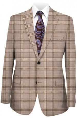 Daniel Hechter Tan Pattern Slim Fit Sportcoat #064261