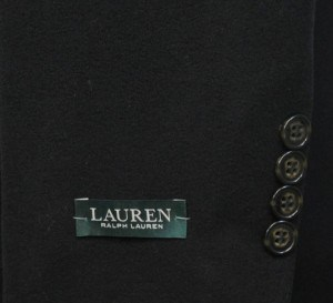 Ralph Lauren Black Cashmere Blend Full Length Topcoat #06H300