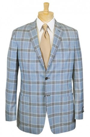 Ike Behar Blue Pattern Slim Fit Sportcoat #10-128803-441
