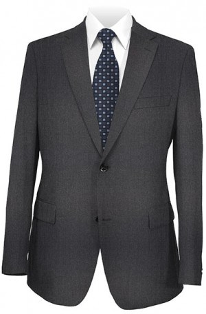 Armani Medium Gray Solid Color Suit #10327-13