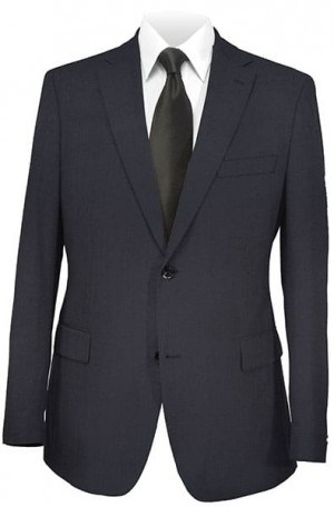 DKNY Navy Solid Color Slim Fit Suit 10Y0033