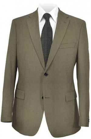 DKNY Taupe Slim Fit Suit 10Y0056