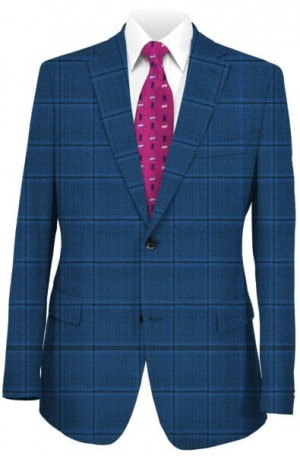 Jack Victor Blue Windowpane Sportcoat #117122