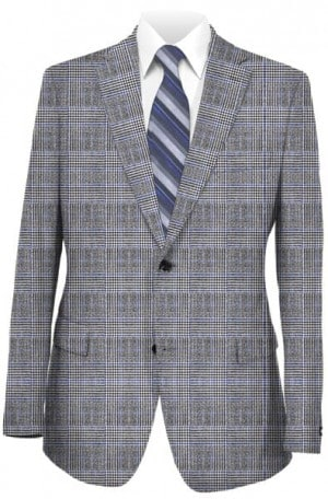Jack Victor Gray Plaid Sportcoat #1171319