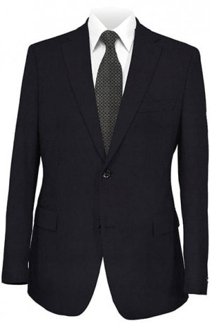 DKNY Navy Solid Color Tailored Fit Suit 11Y0002
