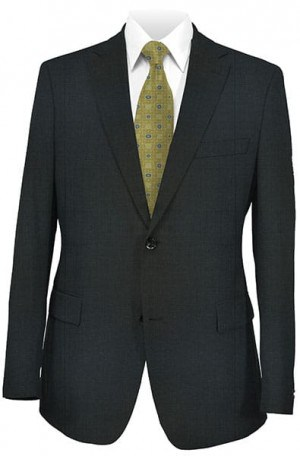 DKNY Medium Gray Tailored Fit Suit 11Y0023